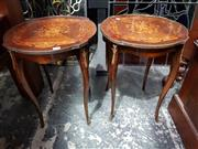 Sale 8925 - Lot 1010 - A pair of bedside or occasional tables in the french taste