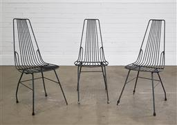 Sale 9255 - Lot 1485 - Set of 3 wire based dining chairs (h:85 x w:35 x d:36cm)