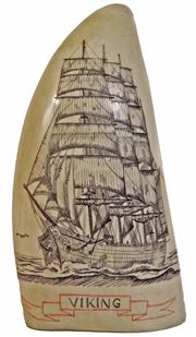 Sale 7974 - Lot 22 - Scrimshaw Whales Tooth Viking