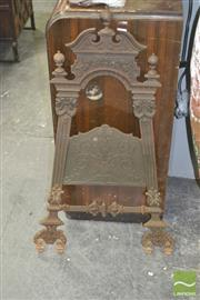 Sale 8267 - Lot 1031 - Finely Cast Iron Easel Part (missing base, foundry marks to back)