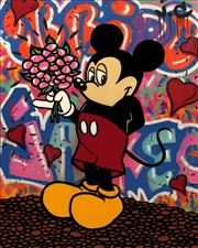 Sale 8350E - Lot 21 - Jake Clarke (1985 - ) - Mickey Mouse 150 x 120cm