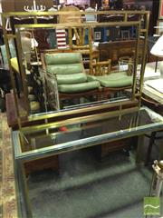 Sale 8412 - Lot 1095 - Glass Top Mirrored Back Hall Table