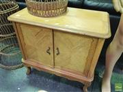 Sale 8424 - Lot 1050 - Raised French Style Two Door Cabinet -