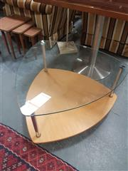 Sale 8672 - Lot 1025 - Modern Glass Top Occasional Table