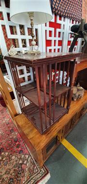 Sale 8693 - Lot 1028 - Edwardian Possibly Walnut Revolving Bookcase, of two tiers