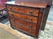Sale 8831 - Lot 1029 - Mid Victorian Mahogany Chest of Four Drawers