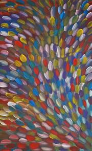 Sale 8863A - Lot 5036 - Gloria Petyarre (1946-) - Bush Medicine Leaves 145 x 90cm (stretched and ready to hang)
