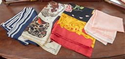 Sale 9120H - Lot 383 - Group of four silk scarves including Oroton examples