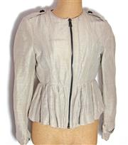 Sale 8196F - Lot 325 - A BURBERRY JACKET; zip up with original label and spare button (UK8).