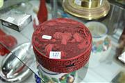 Sale 8330T - Lot 127 - Red Lacquer Lidded Container