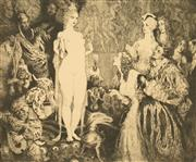 Sale 8771 - Lot 2002 - Norman Lindsay (1879 - 1969) - Priestess of the Magi 22.5 x 27.5cm (sheet: 34.5 x 39cm)