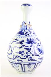 Sale 8832 - Lot 58 - A Chinese Blue & White Vase with Attached Barnacles (H 41cm)