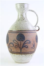 Sale 8860V - Lot 81 - A Large Studio Pottery Vessel with Floral Pattern Mid Section (H 50cm) (Signed To Base)