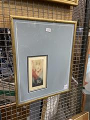 Sale 8936 - Lot 2100 - K Jafar, Visages, colour etching 42.5 x 34 cm, signed -