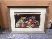 Sale 9091 - Lot 2088 - S.E. Poole Still Life with Fruit, oil on board, frame: 25 x 62 cm, signed lower right,