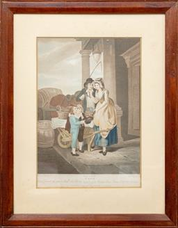 Sale 9120H - Lot 384 - A framed print depicting the Cries of London