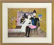 Sale 8316 - Lot 549 - Sidney Nolan (1917 - 1992) - Constable Fitzpatrick and Kate Kelly 47.5 x 63.5cm