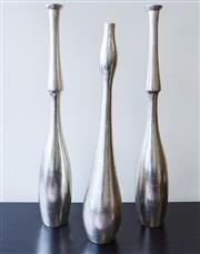 Sale 8310A - Lot 35 - A set of three decorative contemporary resin vases resembling ninepins. tallest height 102cm