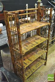 Sale 8392 - Lot 1036 - Tiger Cane Shelving Unit