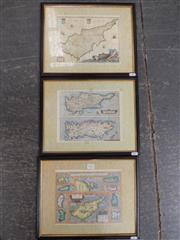 Sale 8422T - Lot 2012 - 3 Framed Map Prints, 38 x 30.5cm