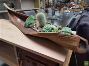 Sale 8637 - Lot 1077 - Organic Leaf Form Tray of Succulents