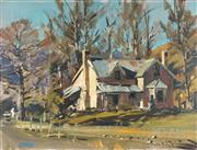 Sale 8781 - Lot 579 - Douglas Badcock (1922 - 2009) - Pioneer Cottage, 1973 45.5 x 61cm