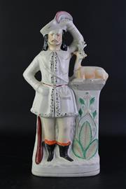 Sale 8852 - Lot 28 - Large Staffordshire Figure of a Man at Attention (H42cm)