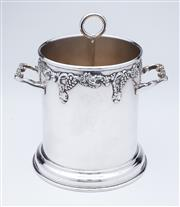 Sale 9080J - Lot 149 - A Crusader silverplate double handled ice bucket C: 1940s, fitted with a removable ice drainer so that it can be used as a large bo...