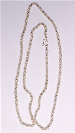 Sale 9136 - Lot 241 - A silver filigree necklace Wt 35g