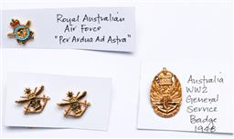 Sale 9144 - Lot 434 - Three various Australian Military badges to include Royal Australian Air Force