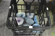 Sale 8326 - Lot 1240 - Crate Blue Agate Polished Ends