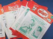 Sale 8450S - Lot 757 - The Knockout - a box of complete Knockouts, New York 1944-1948, in great order!