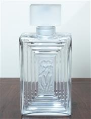 Sale 8800 - Lot 135 - A Lalique perfume bottle decorated with nude ladies with stopper, H 20cm