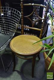 Sale 8532 - Lot 1174 - Pair of Timber Chairs with Rattan Seat