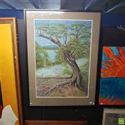 Sale 8636 - Lot 2058 - Susi Kleeber The Humble Mangrove, pastel, 122 x 90cm(frame), signed lower right
