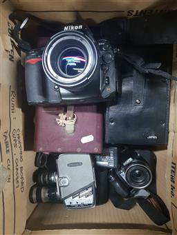 Sale 9152 - Lot 2360 - Collection of Vintage Camera Gear incl Nikon D-700 & Yashica-8 Movie Camera
