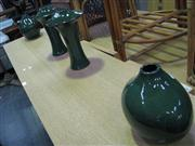 Sale 7932A - Lot 1139 - Pair of Tall Green Vases with Similar Shorter Examples (4)