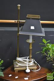 Sale 8299 - Lot 1004 - Brass Bedside Lamp