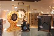 Sale 8379 - Lot 165 - Amber Glass Desk Clock with Others Incl Metal Cased (5)