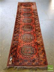 Sale 8499 - Lot 1367 - Afghan Hand Knotted Woolen Runner (290 x 80cm)