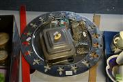 Sale 8548 - Lot 2342 - Alessi Tray, Nurse Belt, Plated Serving Frame, Pill Box & Snuff Bottle