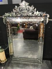 Sale 8795 - Lot 1003 - Venetian Style Bevelled Edge Mirror - two pieces missing (151 x 102cm)
