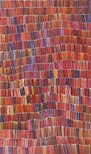 Sale 8862A - Lot 513 - Jeannie Mills Pwerle (1965 - ) - Bush Yam 167 x 97 cm (stretched and ready to hang)