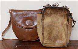 Sale 9120H - Lot 387 - A vintage Coach cross body bag together with a Rowallan leather example