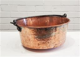 Sale 9126 - Lot 1216 - French copper preserving pan with swing handles