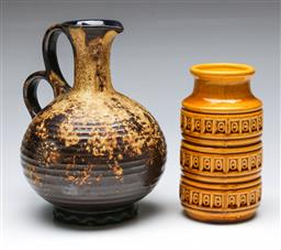 Sale 9156 - Lot 218 - A West German jug together with A vase (H 21cm and 16cm)