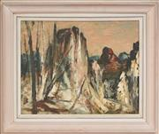 Sale 8316 - Lot 513 - George Feather Lawrence (1901 - 1981) - Warrumbungles 39.5 x 50cm
