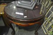 Sale 8305 - Lot 1097 - Circular Coffee Table on Paw Feet with Piecrust Edge