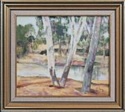 Sale 8420 - Lot 515 - Ray Crooke (1922 - 2015) - By the Stream 29.5 x 33.5cm