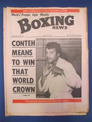 Sale 8419A - Lot 38 - Boxing News - a box containing this weekly 1973-1975, lots of Ali